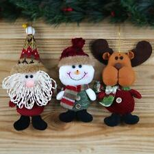 Christmas Tree Snowman Santa Claus Hanging Ornaments Festival Xmas Party Decor