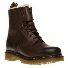 New Womens Dr. Martens Brown Serena Leather Boots Ankle Lace Up