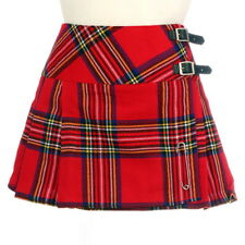 New Ladies Scottish Royal Stewart 13 In Billie Kilt Range of Tartans Size 6-28UK