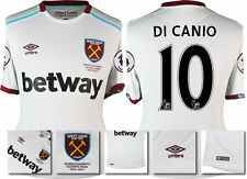 *16 / 17 - UMBRO ; WEST HAM UTD AWAY SHIRT SS + PATCHES / DI CANIO 10 = SIZE*