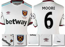 *16 / 17 - UMBRO ; WEST HAM UTD AWAY SHIRT SS + PATCHES / MOORE 6 = SIZE*