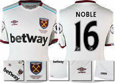 *16 / 17 - UMBRO ; WEST HAM UTD AWAY SHIRT SS + PATCHES / NOBLE 16 = SIZE*