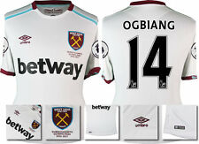 *16 / 17 - UMBRO ; WEST HAM UTD AWAY SHIRT SS + PATCHES / OGBIANG 14 = SIZE*