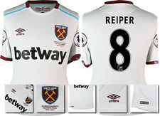 *16 / 17 - UMBRO ; WEST HAM UTD AWAY SHIRT SS + PATCHES / REIPER 8 = SIZE*