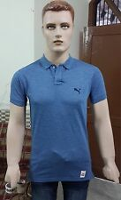 Pumá Solid Men's Polo Slim Fit T-shirt @ Lowest Price (Denim Blue)