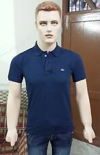 Lacosté Solid Men's Polo Slim Fit T-shirt @ Lowest Price (Navy)