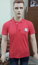 Varsacé Solid Men's Polo T-shirt @ Lowest Price (Barberry Red) (Export Surplus)