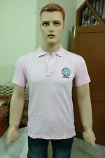 Varsacé Solid Men's Polo T-shirt @ Lowest Price (Pink) (Export Surplus)
