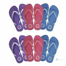 Ladies womens girls beach Flip Flops jelly flipflops sandals shoes Floral