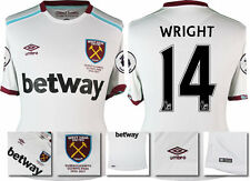 *16 / 17 - UMBRO ; WEST HAM UTD AWAY SHIRT SS + PATCHES / WRIGHT 14 = SIZE*