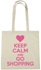 Keep Calm Go Shopping Bag, novelty stocking fillers gifts gift ideas for girls