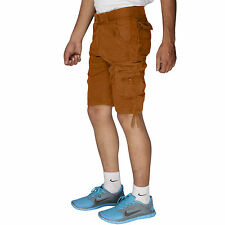 Greentree Boys Cotton Shorts 6 Pocket Kids Cargo khaki Shorts MASR42