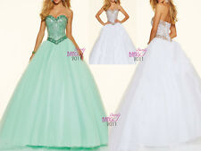 Bridesmaid Dresses Beaded Quinceanera Ball Gowns Formal Prom Dress Party Wedding