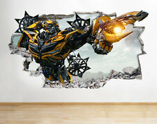 J03 Transformers Smashed Movie Wall Decal Poster 3D Art Stickers Vinyl Room