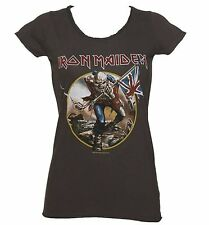 Official Women's Charcoal Iron Maiden Trooper T-Shirt from Amplified
