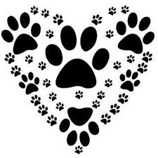 "Paw Heart 190mm Mylar 6"", 8"", 12"" Stencil durable & sturdy****NEW****"