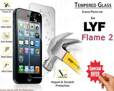 LYF Flame Tempered Glass Screen Guard Protector Premium Buy 1 Get 1 Free