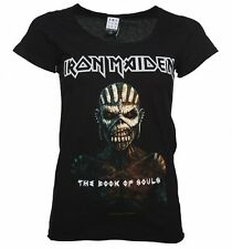 Official Women's Black Iron Maiden Book Of Souls T-Shirt from Amplified