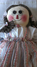 OOAK Handmade Cloth Rag Doll Handstitched and Handpainted stunning quality 16 in