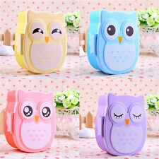 1xCartoon Owl Lunch Box Food Fruit Storage Container Portable Lunchbox Bento Box