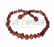Adult Brandy Snap Cognac Baltic Amber Anklet