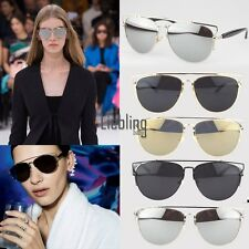 Colors Womens Mens Aviator Mirror Lens Metal Frame Unisex Sunglasses UV400 LEBB