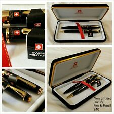 Quality Pen and Pencil with Presentation Box Genuine Swiss Military