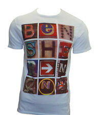 Ben Sherman T-Shirt  White, Retro - All Sizes S-XXL Free Postage SALE