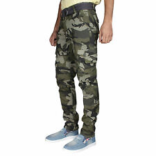 Greentree Mens Cargo Track Pant Army Print Pure Cotton Casual Trouser MASR71