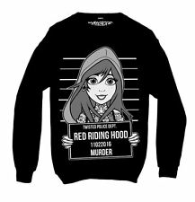 Twisted Red Riding Hood Tattoo Mugshot Sweatshirt Fairy tale gothic emo punk