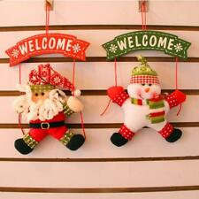 Merry Christmas Door Wall Hanging Snowman Santa Claus Deer Party Ornament Decor