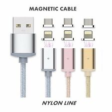 Magnetic Micro/Lighting Cable For iPhone & Android Smart Phone - Silver