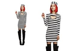Adulte Prisonnier Déguisement Femme Sexy Bad Girl Costume Taille 8 - 1