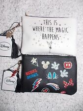 Primark DISNEY MICKEY & MINNIE MOUSE or TINKERBELL Purse or Small Make Up Bag