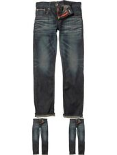 MODA Edwin Mens SEN Japan Red Selvage Skinny Jeans Dark Used 28/32
