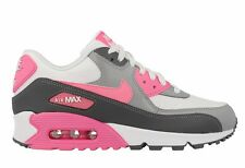 New Womens Nike Air Max 90 Essential White/Pink Glow Running Trainers Shoes Size