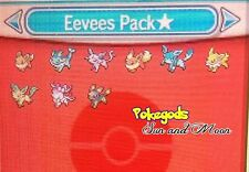 Pokémon Sun and Moon Eevees Pack 6 Ivs Shiny (Super Pack!)