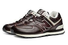 NEW BALANCE SNEAKERS SCARPA UOMO TEMPO LIBERO PELLE MARRONE ART. ML574LUA