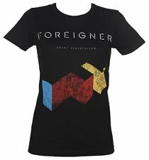 Official Women's Black Foreigner T-Shirt from Goodie Two Sleeves