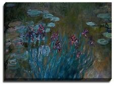 Canvas Print, Claude Monet, Irises and Water-Lilies, 1914-17
