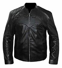 DARK KNIGHT RISES BATMAN BLACK COSTUME GENUINE LEATHER JACKET