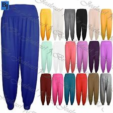 New Womens Ladies Plain Ali Baba Harem Baggy Full Length Leggings Trousers Pants