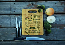 Kitchen Rules, Bamboo Cutting Board