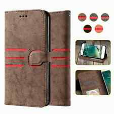Retro Flip Wallet Leather Card Slot Phone Case Magnetic Cover Frame for iPhone