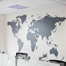 Big World Map Oracal Vinyl Decal, Art Mural Removable Home Decor Wall Stickers