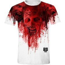 Walking Dead T-Shirt Walkers in Face Stain Full Printed The Walking Dead Serie