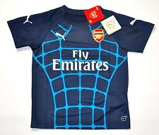 2015 - 2016 Arsenal Puma Kinder Trikot Gr 128 152 164  Jersey Training blau