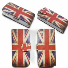 Book Flip Case Cover Vertical Horizontal  Classic Burning Union Jack For Apple