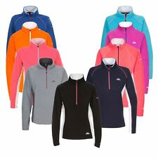 Trespass Apres Womens Half Zip Microfleece Lightweight Ladies Hiking Jumper