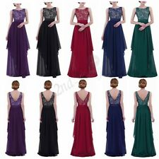 Women's Formal Lace Long Dress Prom Evening Party Cocktail Bridesmaid Wedding